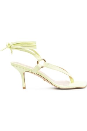 Stuart Weitzman Square-toe leather sandals