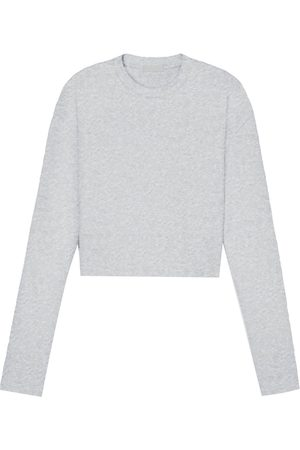 WARDROBE.NYC Long-sleeved crop top - Grey