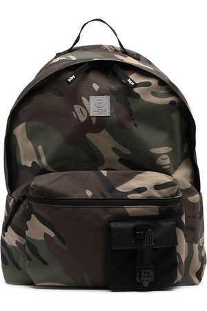 AAPE BY A BATHING APE Camouflage-print zipped backpack