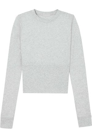 WARDROBE.NYC Fitted long-sleeve crop top - Grey