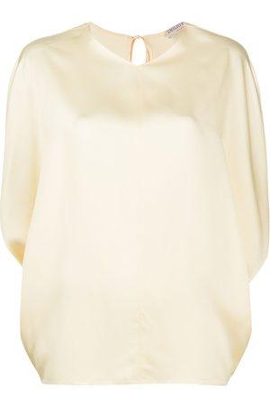 Emilio Pucci X Ramadan satin v-neck tunic blouse