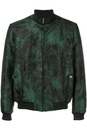 Saint Laurent Foliage jacquard bomber jacket