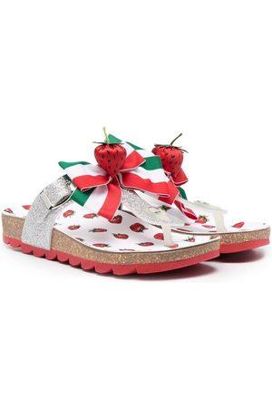 MONNALISA Strawberry-embellished sandals