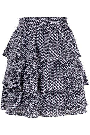 Michael Kors Floral print tiered mini skirt