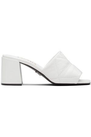 Prada Women Sandals - Logo-lettering quilted sandals