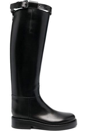 ANN DEMEULEMEESTER Buckled knee-high boots