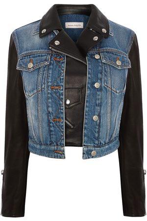 Alexander McQueen Panelled layered denim jacket