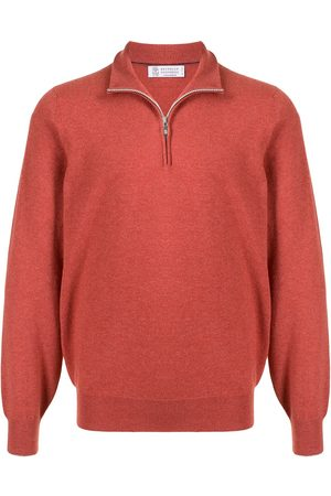 Brunello Cucinelli Cashmere zip detail jumper