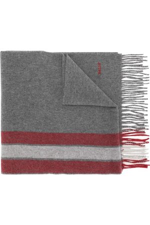 Bally Striped wool-cashmere scarf - Grey