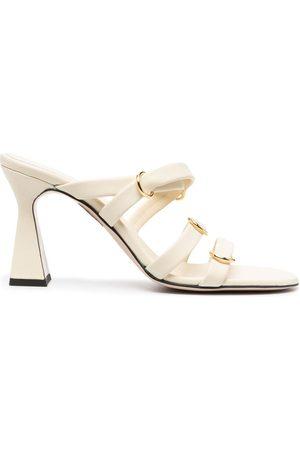 Wandler Lara block-heel sandals - Neutrals