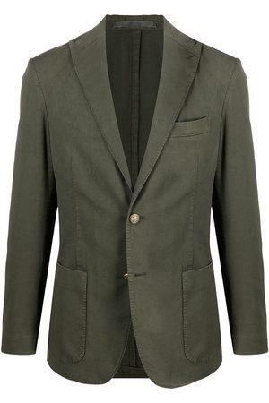 Eleventy Men Blazers - Single-breasted cotton-blend blazer