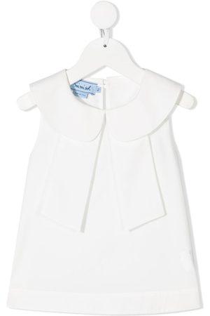 Mimisol Peter-pan collar sleeveless dress