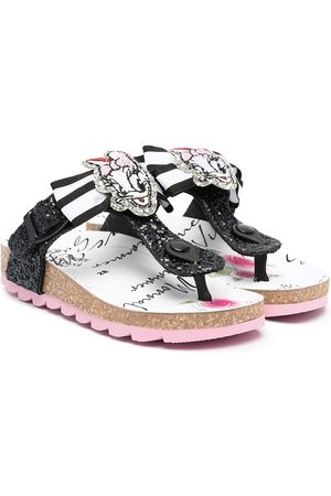 MONNALISA Daisy Duck sequin sandals