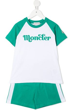 Moncler Logo print shorts track suit