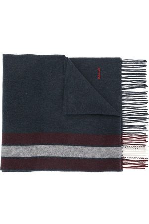 Bally Striped cashmere-wool scarf