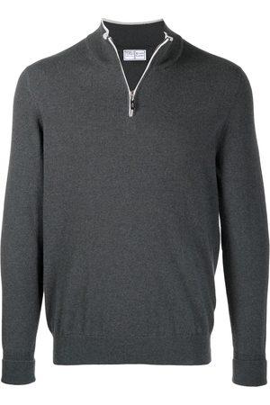 FEDELI Zipped cashmere jumper - Grey