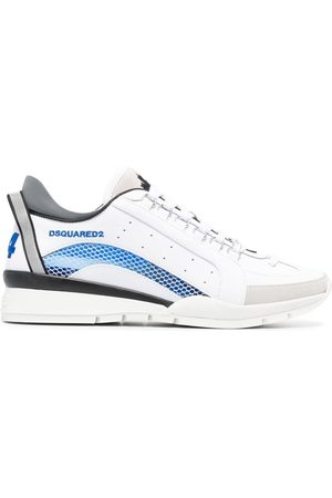 Dsquared2 Mesh-trim leather sneakers