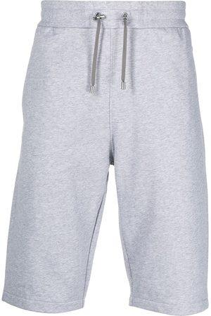 Balmain Flocked-logo drawstring shorts - Grey