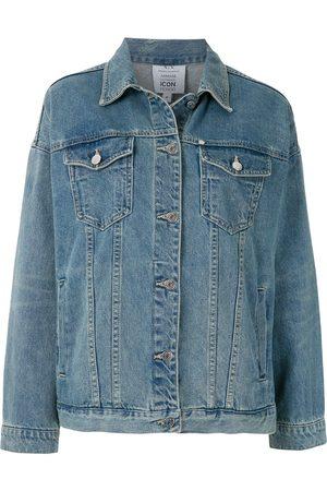 Armani Exchange Rear slogan print denim jacket
