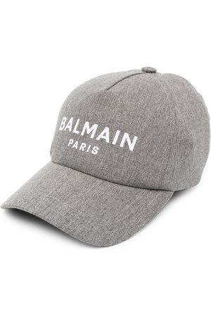 Balmain Logo-print baseball cap - Grey