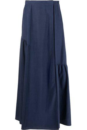 Armani High-waisted ruffled maxi skirt