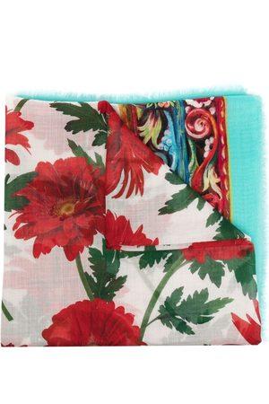 Dolce & Gabbana Floral-print cashmere-silk scarf