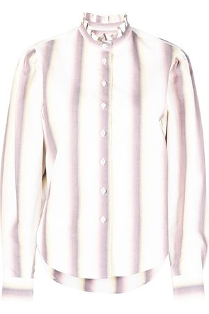 Isabel Marant Ruffle-collar cotton shirt
