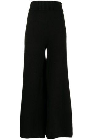 KHAITE Women Wide Leg Pants - Rachelle wide-leg cashmere trousers
