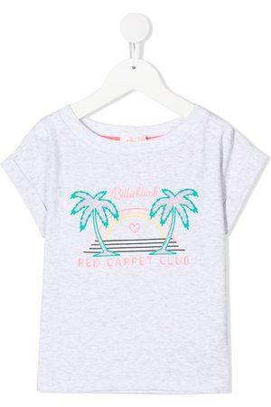 Billieblush Logo-print short-sleeve T-shirt - Grey