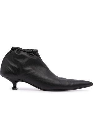 Khaite Volos leather ankle boots