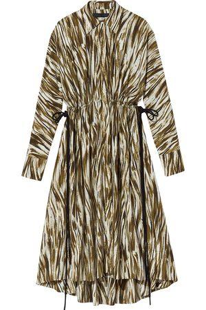 Proenza Schouler Painterly-print long-sleeve shirt dress