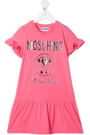 Moschino Logo-print short-sleeve dress