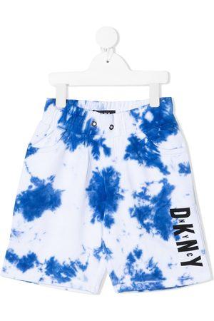 DKNY Tie-dye print cotton bermuda shorts