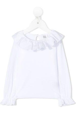 DOUUOD KIDS Ruffle-trim long-sleeve top