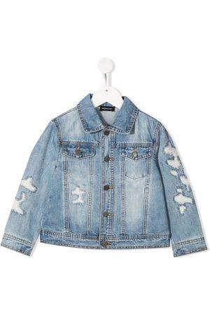 MONNALISA Distressed denim jacket