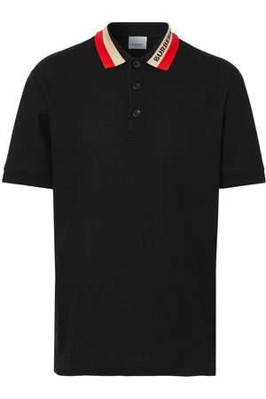 Burberry Contrast-collar piqué polo shirt