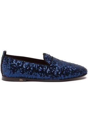 Dolce & Gabbana Men Flat Shoes - Sequinned flat slippers