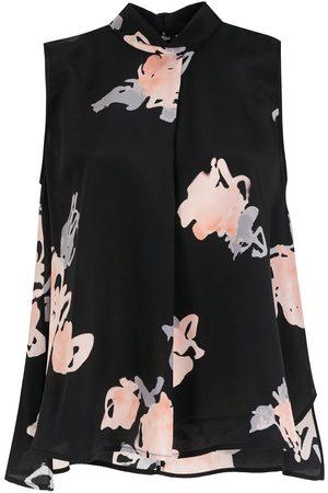 Emporio Armani Women High Necks - Floral-print high-neck blouse