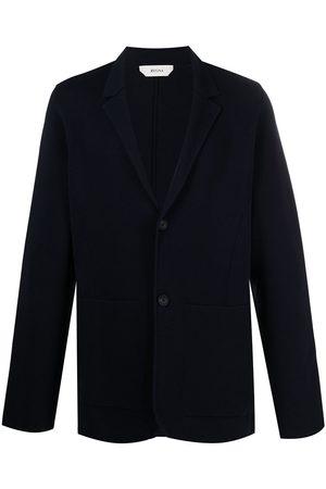 Z Zegna Men Blazers - Single-breasted cotton blazer
