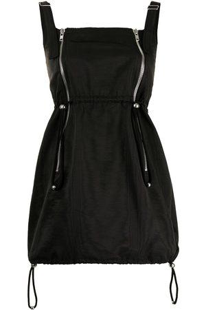 DION LEE Double zip balloon mini dress