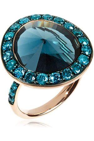 ANNOUSHKA 18kt rose gold diamond topaz Dusty ring