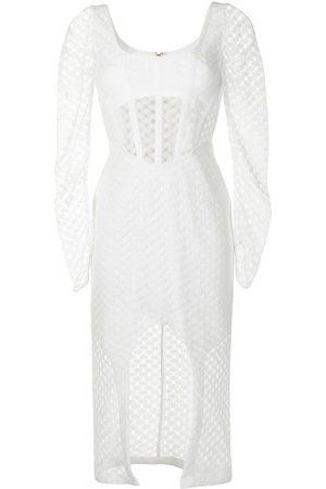DION LEE Crochet Lace long-sleeved dress