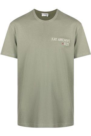 FAY Archive-print cotton T-shirt