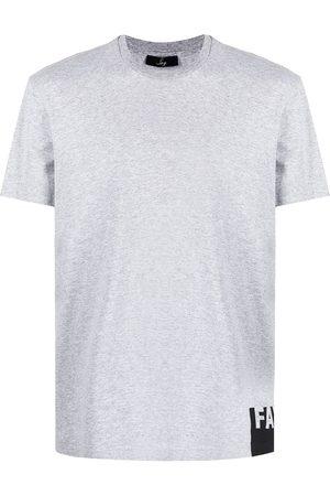 FAY Men Short Sleeve - Logo-print short-sleeve T-shirt - Grey