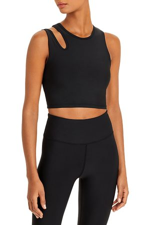 Aqua Longline Cutout Sports Bra - 100% Exclusive