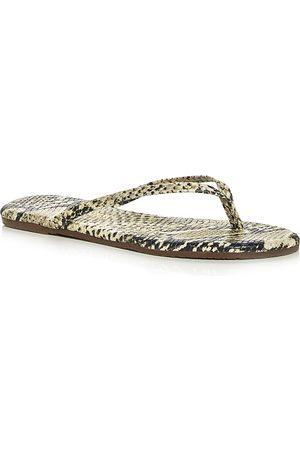 Tkees Women's Studio Exotic Snake Embossed Flip Flops
