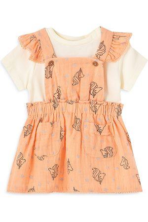 Peek Kids Girls' Overall Dress Set - Baby