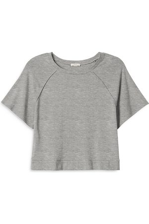 Eberjey Blair Meadow Cropped Short Sleeve Sweatshirt