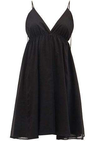 Loup Charmant Women Midi Dresses - Oleta V-neck Cotton-voile Dress - Womens