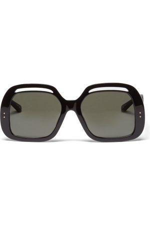 Linda Farrow Renata Square Acetate Sunglasses - Womens